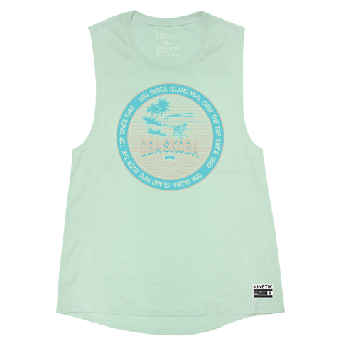 Emblem of the Isle Muscle Tank (Island Mint) - Women's