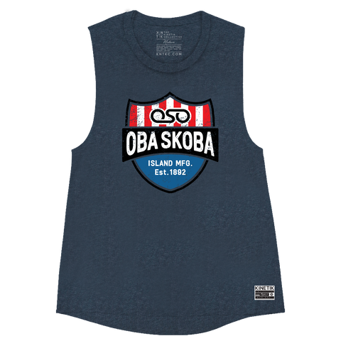 The Enforcer Muscle Tank (Ocean Navy) - Women's