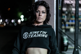 Kinetik Training Cropped Hoodie (Black)