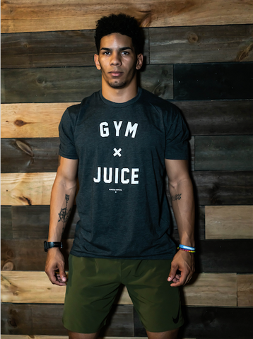 GYM & JUICE Tee (Charcoal) - Men's
