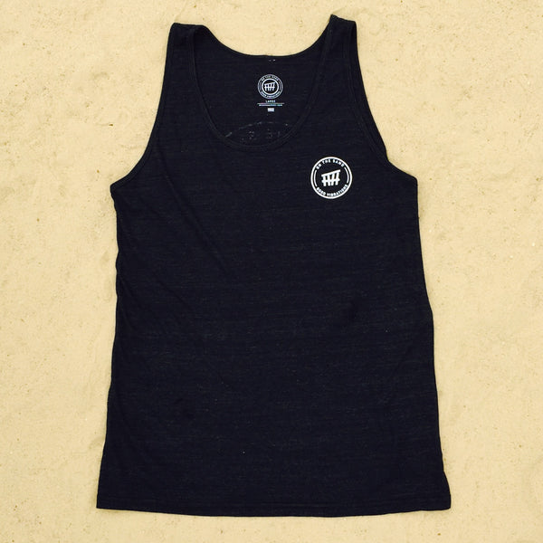 Beach Hut Unisex Black Tank