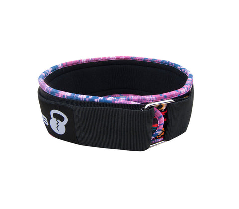 Pink Tribal 4'' Velcro Cardio Weightlifting Belt