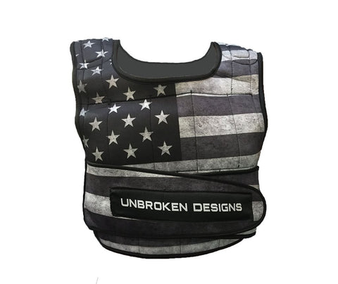 Stars & Stripes 20lb Crop Weight Vest