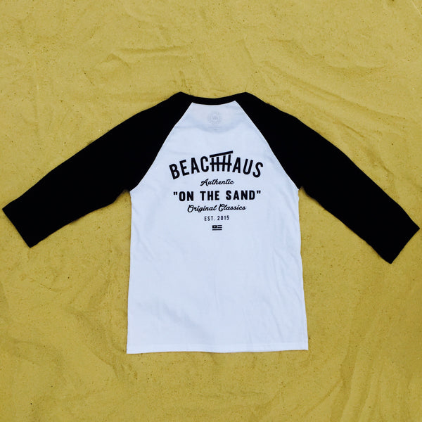 The Original Unisex White/Black 3/4 Raglan