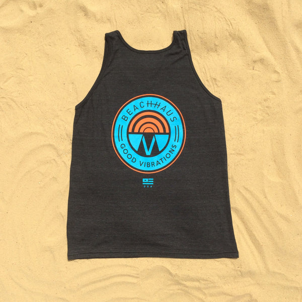 Good Vibrations Vintage Black Tank
