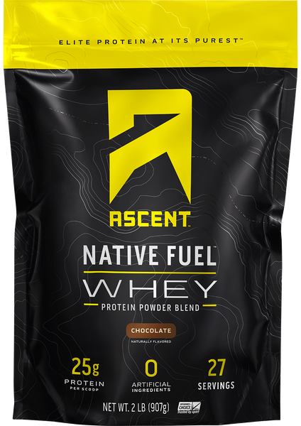 Ascent Native Fuel Whey Protein - Chocolate 2 lb. bag