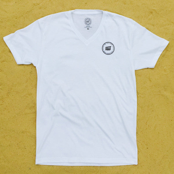 Beach Hut Sueded V-Neck Tee