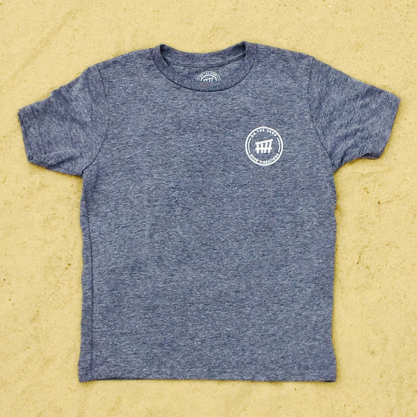 Youth Beach Seal Premium Heather Gray Crew