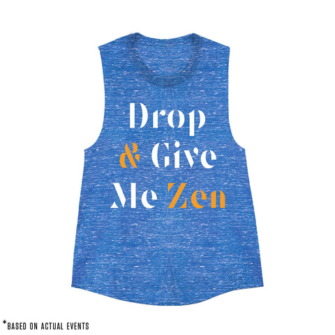 DROP & GIVE ME ZEN (Marbled Royal) - Women's - PRE-SALE for 9/17