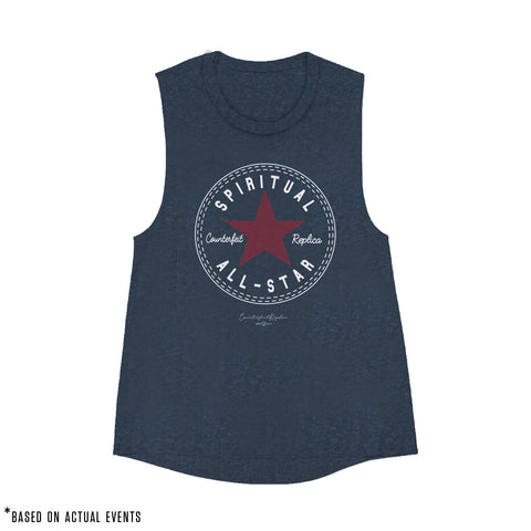 SPIRITUAL ALL-STAR Muscle Tank (Heather Navy) - Women's - PRE-SALE for 9/17