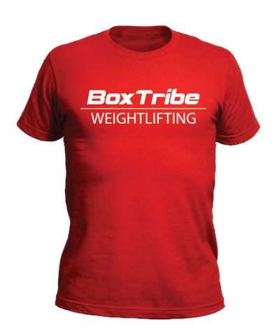 BoxTribe Weightlifting Badge Tee (Red)