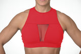 """The Tiffany"" Chestee Sports Bra - Cherry Red"