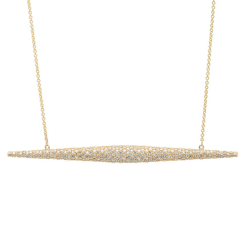 Torpedo Necklace w/ Diamonds