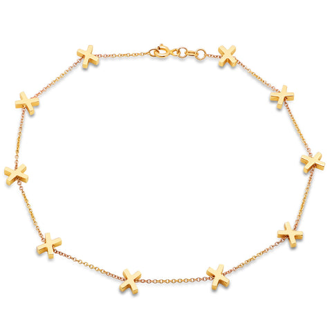 X Charm Anklet