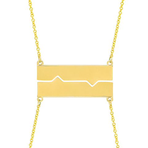 Horizontal Friendship Plate Necklaces