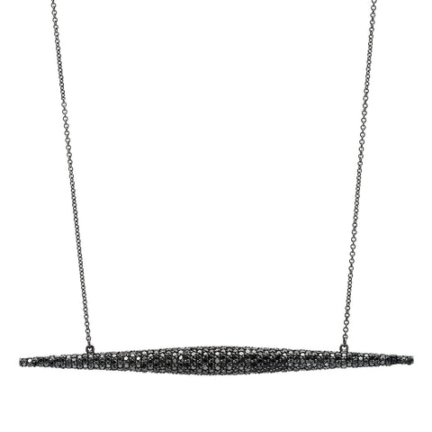 Torpedo Necklace w/ Black Diamonds