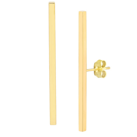 Long Stick w/ Mid-Post Stud Earrings