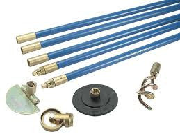 Bailey Lockfast 3/4in Drain Rod Set 4 Tools & Straps