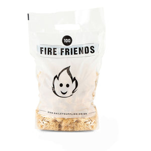Fire Friends Natural Eco Wood Wool Firelighters - 100 Per Pack
