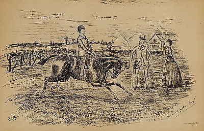 """Fores's Sporting Notes & Sketches"" - ""YOU WEREN'T FRIGHTENED ?"" - Litho - 1886 - Sandtique-Rare-Prints and Maps"