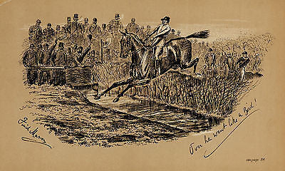 """Fores's Sporting Notes & Sketches"" - ""DOWN HE WENT LIKE A BIRD"" - Litho - 1886 - Sandtique-Rare-Prints and Maps"