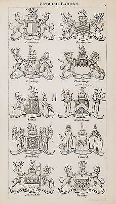 ANTIQUE HERALDRY PRINT