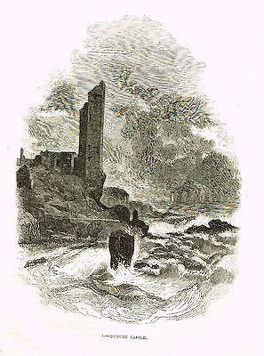 """DUNURE CASTLE"" - Lithograph - c1880 - Sandtique-Rare-Prints and Maps"