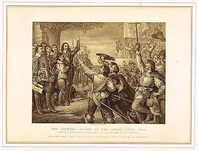 ANTIQUE HISTORICAL PRINT