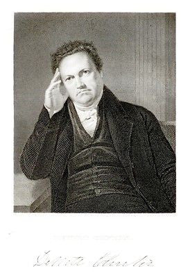 """Gallery of Distinguished Americans"" - ""DEWITT CLINTON"" - Steel Engraving - 1835"