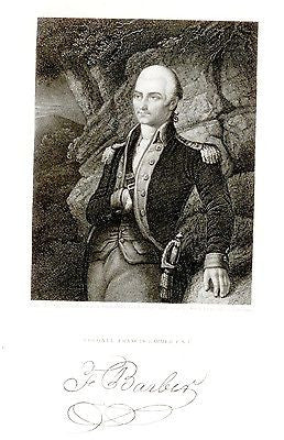 """Gallery of Distinguished Americans"" - ""COL. FRANCIS BARBER"" - Steel Eng. - 1835 - Sandtique-Rare-Prints and Maps"