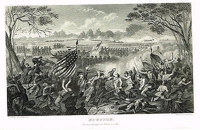 "Abbott's Civil War - ""NEWBERN"" (CIVIL WAR BATTLE) - Steel Engraving - 1865 - Sandtique-Rare-Prints and Maps"