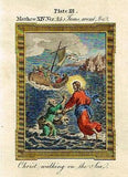 Bankes' Bible DEATH OF JOHN THE BAPTIST - Hand-Col. Eng. - c1760
