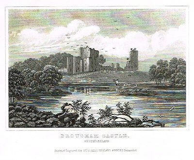 "Dugdale's Engand & Wales Delineated - ""BROUGHAM CASTLE"" - Steel Engraving -c1840"