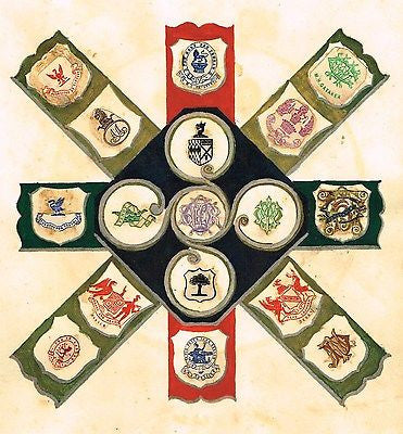 "One of a Kind Print from ""BOOK OF CRESTS"" - GATAKER - c1850"