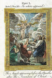 Bankes' Bible ANGELS APPEAR TO APOSTLES - Hand-Col. Eng. - c1760