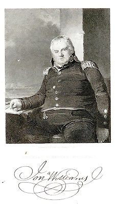 """Gallery of Distinguished Americans"" - ""JONATHAN WILLIAMS"" - Steel Eng. -1835 - Sandtique-Rare-Prints and Maps"
