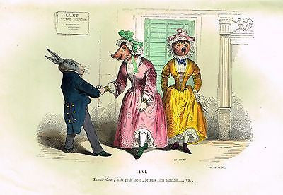 SANDTIQUE ANTIQUE SATIRE PRINT
