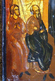 RARE Antique Russian Icon  H-Painted Enamel , MARY WITH 6 SAINTS c1750