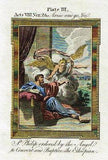 Bankes' Bible THE APOSTLES SENT TO PRISON - H-Col. Eng. - c1760