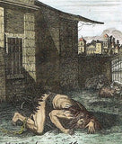 "Dr. Southwell's ""PUNISHMENT OF NEBUCHADNEZZAR"" - Hand-Col. Eng. -1775"