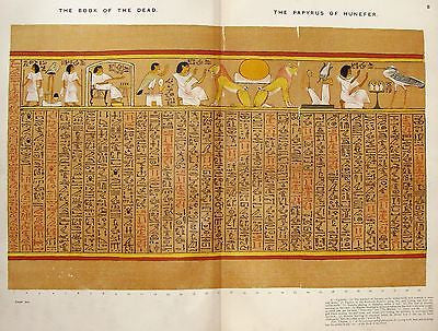 Budge's Book of the Dead - PAPYRUS OF HUNEFER - (Funeral Procession) - 1899