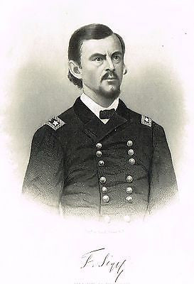"Abbott's Civil War - ""MAJOR GENERAL FRANZ SIGEL"" - Steel Engraving - 1865 - Sandtique-Rare-Prints and Maps"