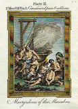 Bankes' Bible NICANOR BEHEADED AFTER DEFEAT - H-Col. Eng. - c1760