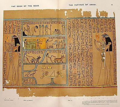 Budge's Book of the Dead  - PAPYRUS OF ANHAI (Lady Anai) - Chromo - 1899
