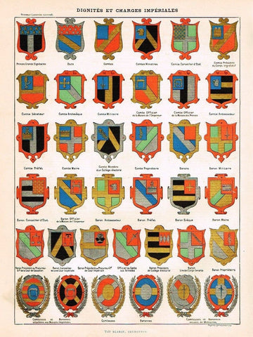 SANDTIQUE ANTIQUE HERALDRY PRINT