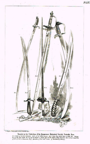 American Curiosities -1860- SET OF SIX SWORDS - Sandtique-Rare-Prints and Maps