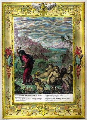 Picart's Muses - Hand-Colored Engraving - REPEOPLE THE WORLD - 1733