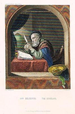 "Antique Print - ""THE SCHOLAR"" from ""Art Treasures of Germany"" -c1870"