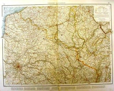 Andree's Atlas, Chromo -1893- NORTHEAST FRANCE - Sandtique-Rare-Prints and Maps
