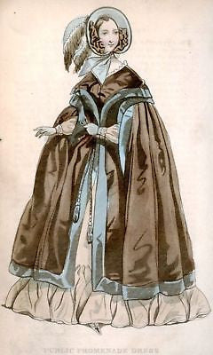 Lady's Cabinet - Hand-Colored - 1840 - BROWN DRESS